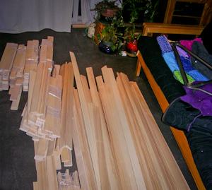 Ash hardwood floor.