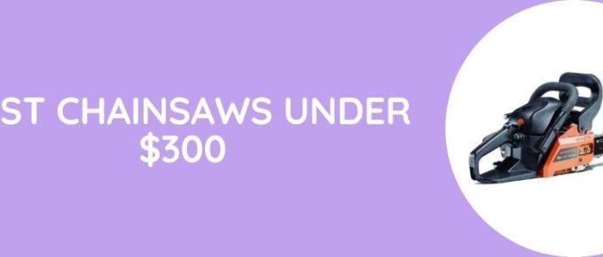 Best Chainsaws Under $300